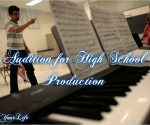 audition, piano, and theatre image