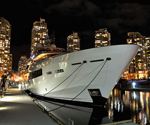 luxury, city, and boat image