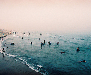beach, people, and sea image