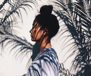 girl, summer, and bun image