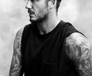 David Beckham, tattoo, and boy image