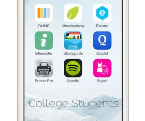 college, iphone, and students image