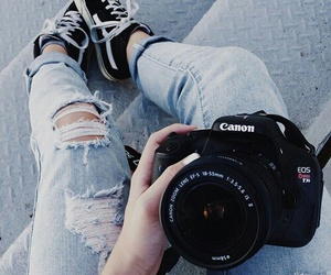 canon, camera, and jeans image