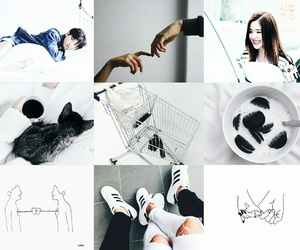 couple, moodboard, and white image