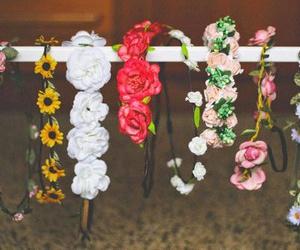 flowers, summer, and headband image