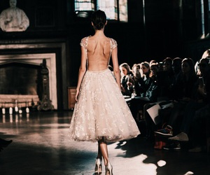 dress, runway, and style image