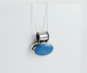etsy, blue gemstone, and vintage pendant image