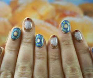 donut, nails, and fun image
