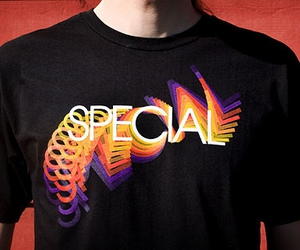 special, tee, and typography image