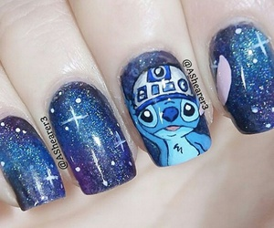 awesome, nails, and stitch image