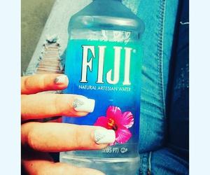 nails fiji flowers blue image