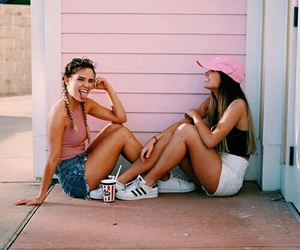 adidas, bff, and best friends image