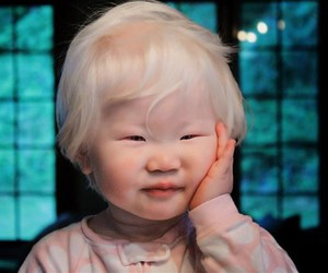 baby, asian, and albino image