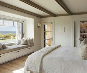 beach, bed room, and design image