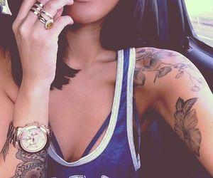 tattoo, watch, and beauty image