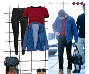 outfit, Polyvore, and bts image