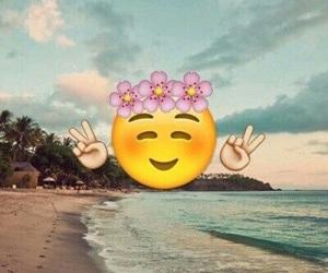 emoji, beach, and summer image