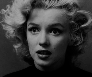 black & white, Marilyn Monroe, and norma jeane image