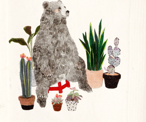bear and plants image