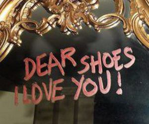 shoes, mirror, and lipstick image