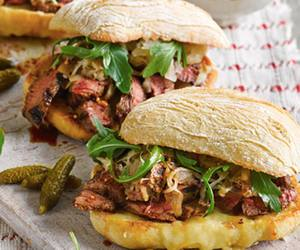 beef, sandwich, and steak image