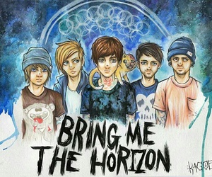 bmth, art, and bring me the horizon image