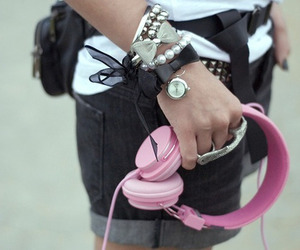accessories, black and white, and jewelry image