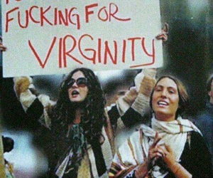 peace, virginity, and war image