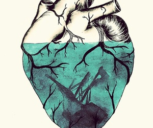 dibujo, heart, and verde image