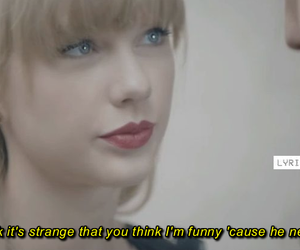 Lyrics, music, and Taylor Swift image