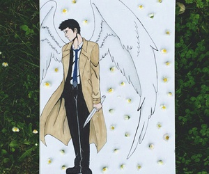 drawing, spn, and castiel image