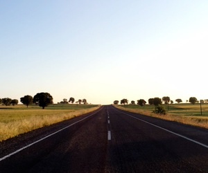 holiday, road, and sunrise image
