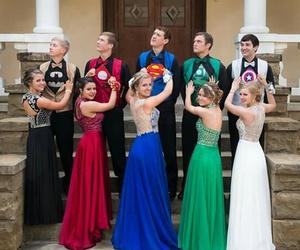 Prom, batman, and dress image