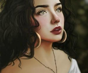 art, disney, and beauty image
