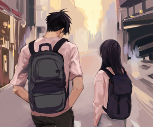 couple, anime, and art image