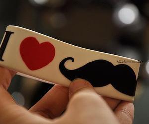 moustache, mustache, and love image
