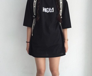 black, aesthetic, and clothes image