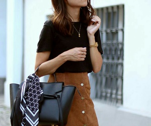 bag, black, and brown image