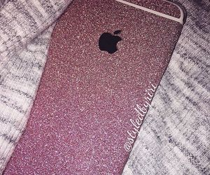 fashion, glitter, and iphone image