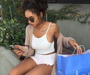 girl, fashion, and shopping image