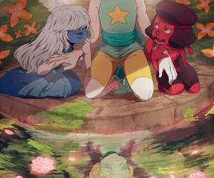 steven universe, garnet, and ruby image
