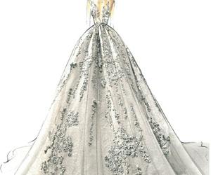 dress, elie saab, and drawing image
