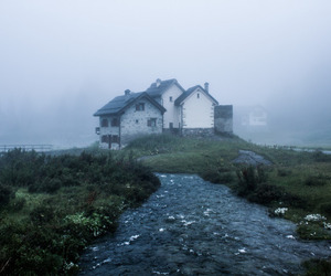 cloudy, home, and house image