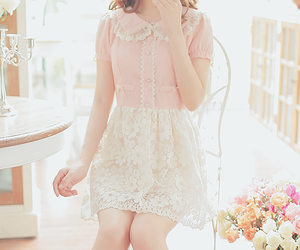 fashion, lace, and flowers image
