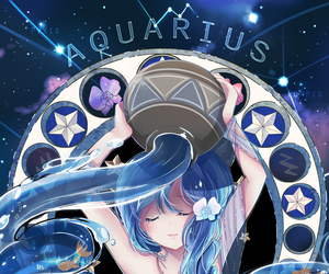 aquarius, zodiac, and anime image