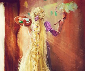 disney, rapunzel, and art image