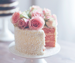 cake and rose image