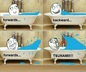tsunami, funny, and lol image