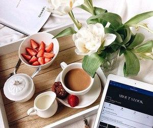 coffee, ipad, and breakfast image