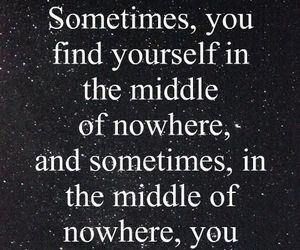 quotes, yourself, and nowhere image